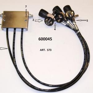 Rampa 3 vie per il montaggio diretto al compressore