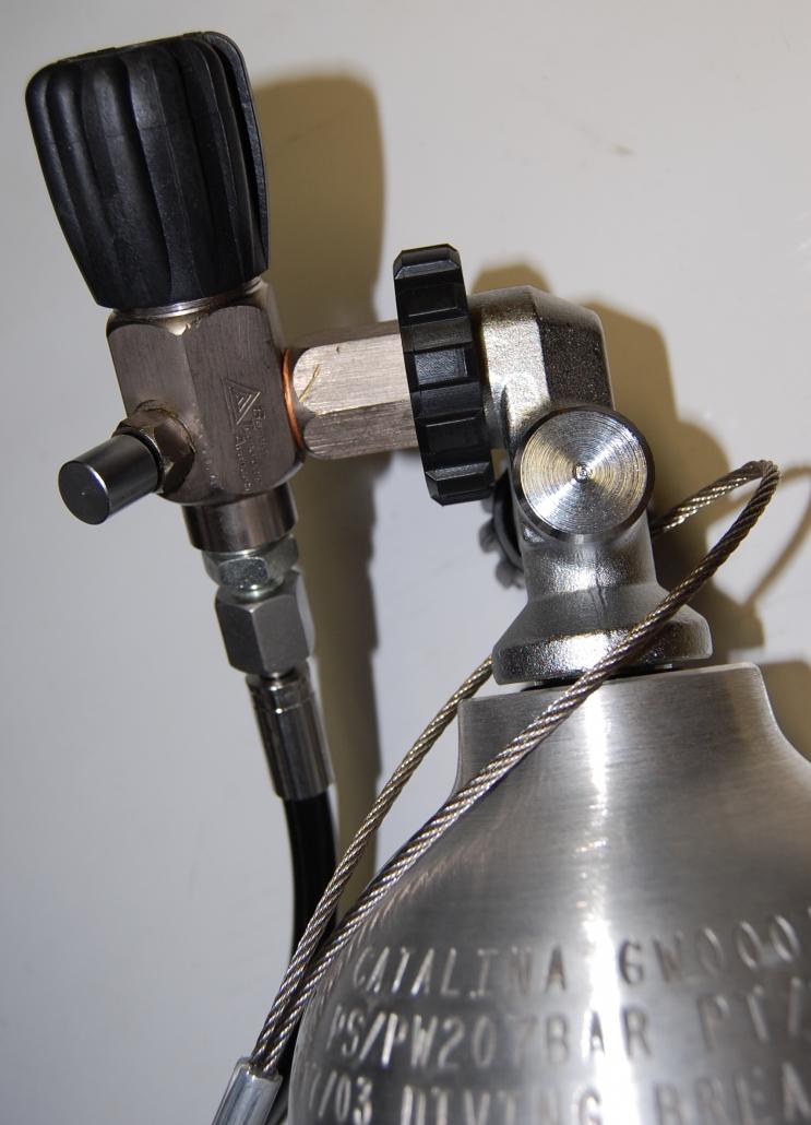 collegamento del cavetto alla bombola