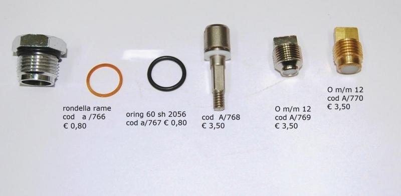 Componenti per la manutenzione rampe